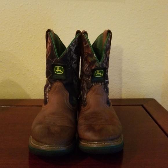 7e0f343c993 John Deere Other - John Deere Leather Cowboy Boots Boys Size 21 2 M